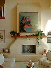 adobe fireplace, spanish fireplace, mission style mantel, mantle, Screen shot 2011-03-28 at 2.35.12 PM