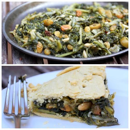 endive pie (torta di scarola)