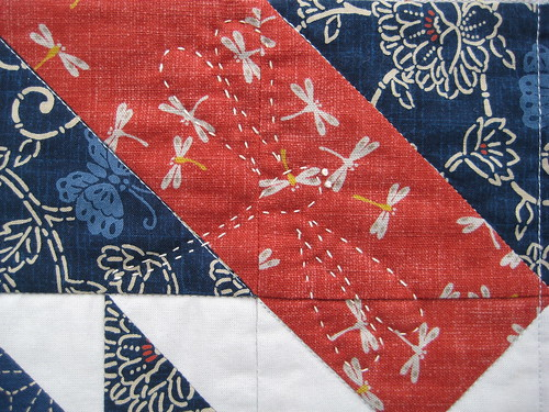 Dragon.Fly Table Runner detail1 by Poppyprint