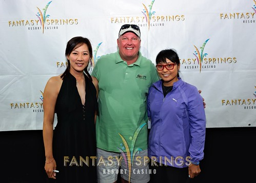 LPGA golf professionals Jimin Kang Grace Park and Amy Hung participate