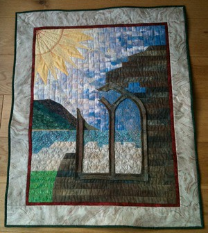 Quilt: bound, with window