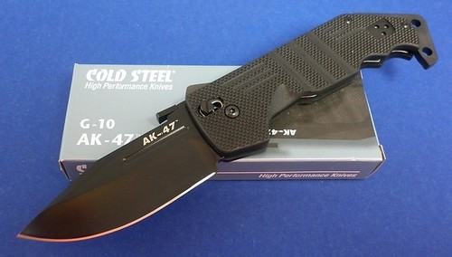 "Cold Steel AK-47 Folding Knife 3-1/2"" Blade, G10 Handles"