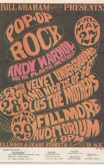05/27-28-29/ Andy Warhol - Velvet Underground/The Mothers Plastic Exploding Inevitable @ Fillmore Auditorium, San Francisco, CA