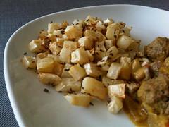 Caraway roasted celeriac