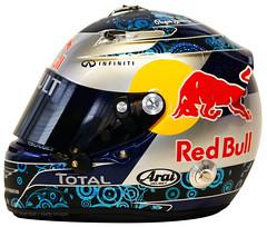 Sebastian Vettel Red Bull Helmet 2011 (Zip250) Tags: helmet f1 formula1 redbull 2011 sebastianvettel