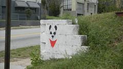 Red Scarf Panda (The Varners) Tags: atlanta streetart graffiti stencil panda bandana