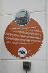 Photo of Paulus J. C. Hofman and Knysna Dutch Reformed Church brown plaque
