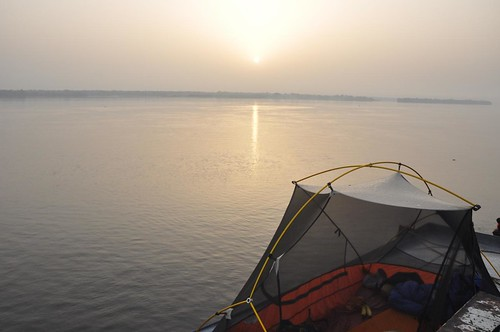 Sleeping above the Congo