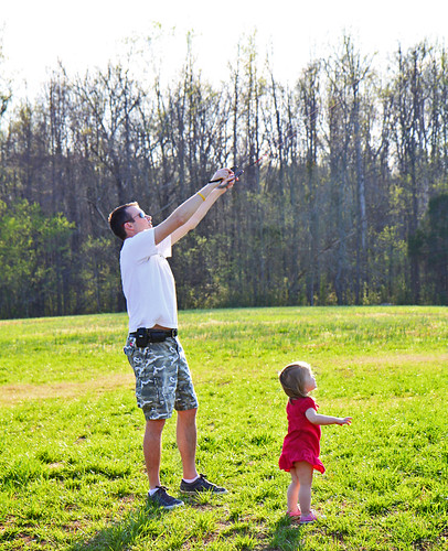 Daddy Daughter Kite Flying