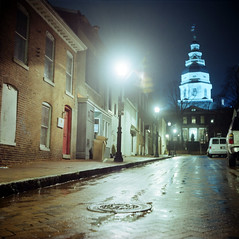 Shine (Daniel Regner) Tags: camera old light 120 tlr film field night analog vintage lens photography reflex md focus long exposure dof state kodak daniel release capital twin maryland cable iso southern medium format meter shallow manual asa annapolis portra depth emulsion 160 2011 160nc regner