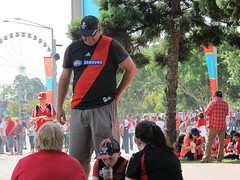Football crowd outside ANZ Statium (Gavin Anderson) Tags: sydney essendon 3411 anzstadium closematch footyweekend