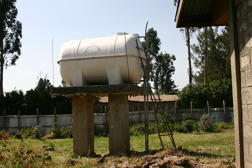 current water tank at bright hope school