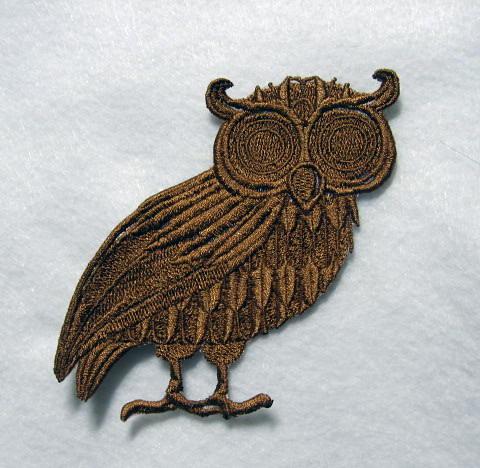 wise owl hair clip
