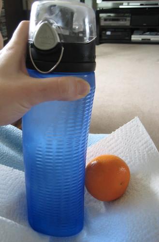 water, clementine