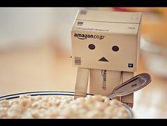 097 (scnelsonfoto) Tags: macro breakfast project photo amazon nikon eating cereal daily eat figure 365 nikkor figurine 105mm danbo amazoncojp revoltech d700 danboard