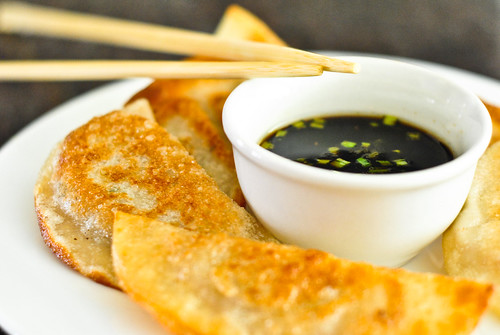 pork and chive potstickers