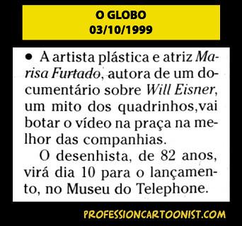 """""""Lançamento no Museu do Telephone"""" - O Globo - 03/10/1999"""