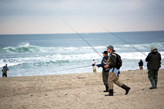Fishermen Rush (cobalt123) Tags: ocean california fishing fisherman sand fishermen sandiego earlymorning pacificocean pacificbeach atthebeach fishingpoles 70200mmf4l fishingclub canon5dmarkii