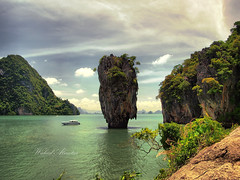 one of a kind    (Waleed Almotar) Tags: colors landscape thailand island one james boat phi view kind bond phuket waleed             almotar flickraward