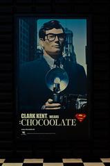 Clark Kent wears... (MMortAH) Tags: china blue hk fashion comics advertising poster hongkong 50mm dc kent nikon 14 superman clark nikkor graflex theone d90 chocoolate