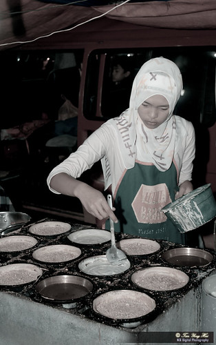 Sweet Girl making pan cake