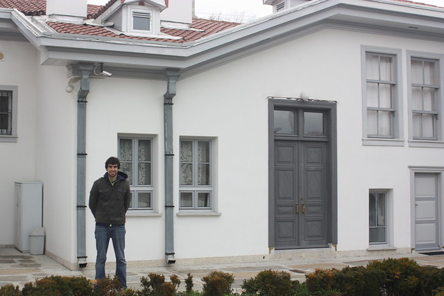 me outside the house of Baha'u'llah in Edirne