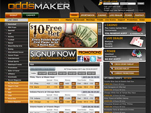 Oddsmaker Sportsbook Home