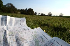 Map of north Oxfordshire (Eachan J) Tags: blue sky plants tree green nature field grass walking countryside nikon map walk os woodstock survey oxfordshire ordnance wooton d3100