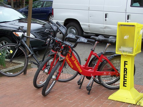 Unattended bicycle sharing bicycles