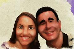 Casal de amigos (tiagobermudez) Tags: digital retrato caricatura pintura realista