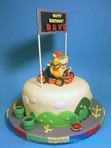 Flickriver Photos Tagged With Bowsercake - Bowser birthday cake