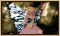 It Tickles! (CallieDel Boa- in and out...) Tags: nature play butterflies sl fairy secondlife blonde magical playful enchanted fae