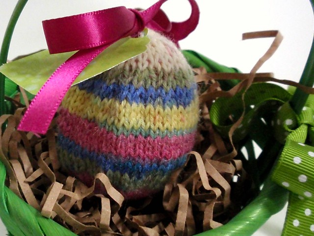 Knit Easter Egg in Basket