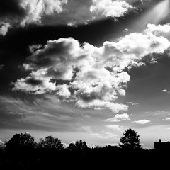 Art in clouds .. monochrome