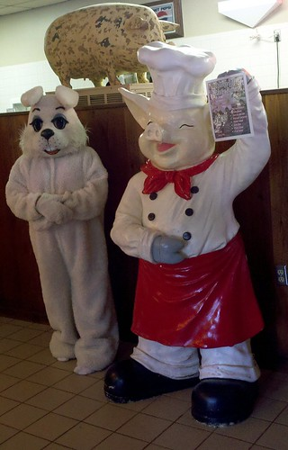 Pig and Easter Bunny by RV Bob