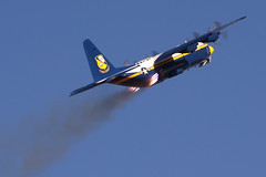 Fat Albert Gets a Boost (airplaneguy38) Tags: blueangels rato c130 fatalbert lockheedc130hercules nafelcentro rocketassisttakeoff