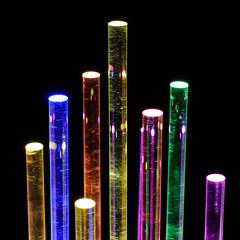 Rainbow Table Top Night Light (LuxChroma) Tags: wood light art lights acrylic glow nightlights nightlight leds woodsculpture
