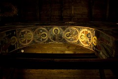 The Holy Arch (Gilderic Photography) Tags: wood light art church saint architecture canon dark painting circle eos gold golden europe raw arch darkness or religion arc icon ceiling peinture holy bulgaria lumiere figure eglise bois icone dore plafond lightroom bulgarie arche 500d nessebar nessabar gilderic