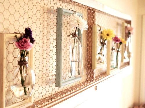 Spring framed vases