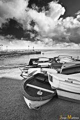 Un rincón de Arrieta (Jorge Martínez) Tags: sea españa muelle boat mar fisherman dock spain barca lanzarote pescador arrieta jorgemartinez