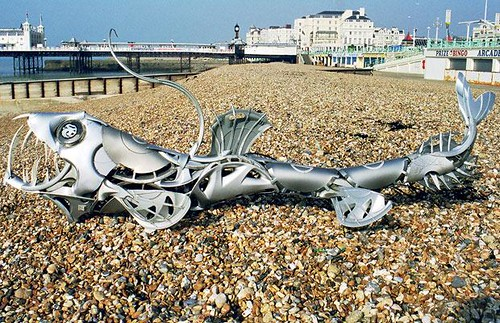Impresionante, arte con metales reciclados
