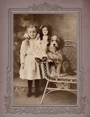 Dream of childhood (Libby Hall Dog Photo) Tags: dog chien dogs cane doll child hond perro gifts hund dogphotography vintagephotographs kennelclub vintagedogs printsforsale vintagephotography antiquephotographs dogbooks libbyhall buyprints picturelibrary doggifts edwardianchild antiquedogphotographs antiquedogs libbyhallcollection thesewereourdogs edwardiandoll dogsinvintagephotographs dogsinantiquephotographs kennelclubpicturelibrary libbyhalldogphotographs princeandotherdogsprinceandotherdogsii postcarddogs