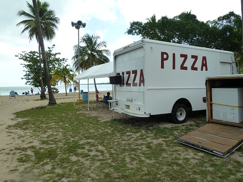 Pizza Truck on the beach