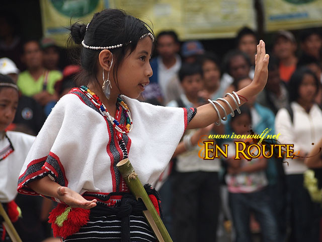 A young gril during the Children's ethnic Dance Category