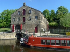 Standedge Visitor Centre (jrw080578) Tags: trees england buildings boats canal yorkshire narrowboats huddersfieldnarrowcanal