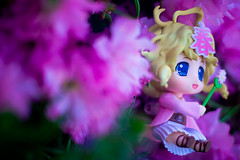 Haru-chan Nendoroid Jumping in the Cherry Blossoms (SirNarwhal) Tags: anime cute cat toy spring wand blueeyes adorable figure koi cherryblossoms gsc collectible nhk haru koifish japanesetoy nendo whispyhair haruchan goodsmilecompany pvcfigure nendoroid