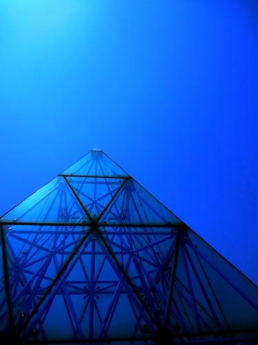 Glass and Metal Pyramid