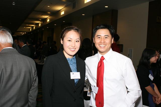 ALC Anniversary Dinner Volunteers, Mabel Ng and Elvin Vu