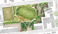site plan for the park when fully realized (via Left for LeDroit)
