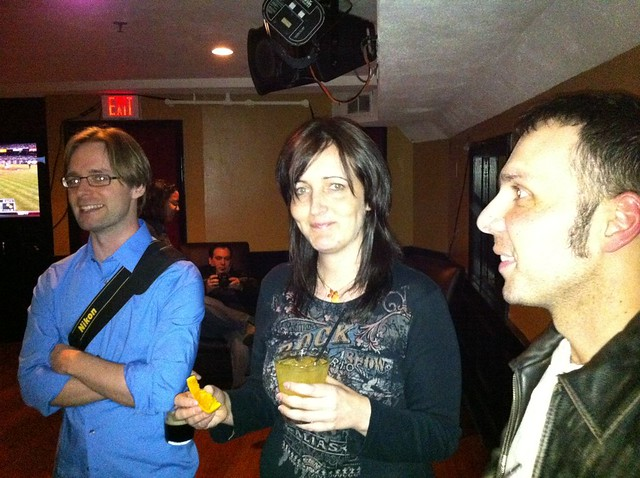 Jared, Petra and Kreshnik at Clery's